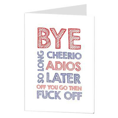 New Job Card Rude Funny Coworker Leaving Congrats Good Luck Banter Office
