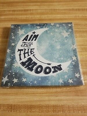 Aim For The Moon Framed Canvas Wall Art Home Decor ~Picture, Print~Inspirational