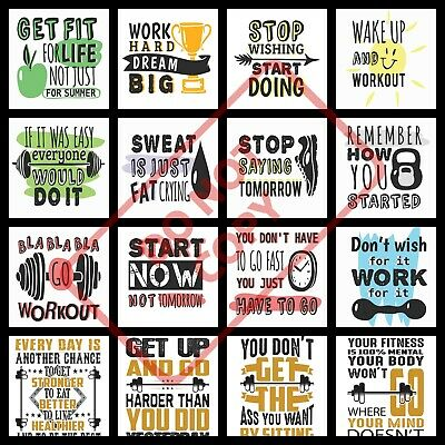 Motivational inspirational gym fitness workout quote poster print BUY1 GET2 FREE