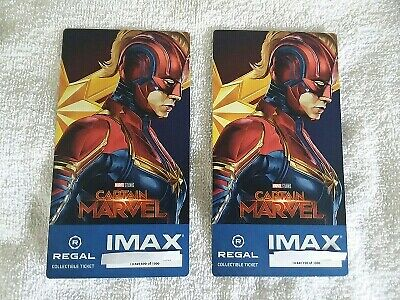 Captain Marvel Collectible Week 2 Regal IMAX Tickets # 699/700 of 1000 Larson