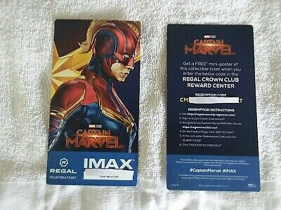 Captain Marvel Collectible Week 2 Regal IMAX Ticket # 666 of 1000 Brie Larson