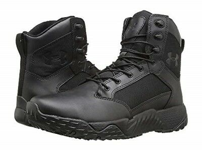 UNDER ARMOUR 1268951-001 STELLAR TAC Mn's (M) Black/Black Leather Tactical Boots