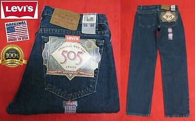 1c28b26704f NEW VINTAGE LEVI'S 505 RED TAB REGULAR FIT JEANS PANTS USA RARE 32x30