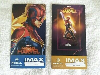 Captain Marvel Week 1 & 2 Collectible Regal IMAX Ticket #11 of 1000 Brie Larson