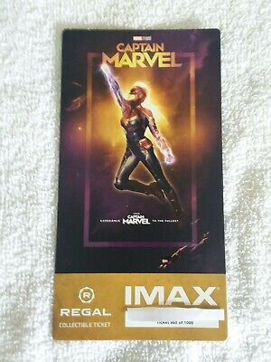 Captain Marvel Collectible Regal IMAX Ticket 950 of 1000 Brie Larson