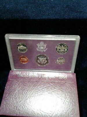 7 -1984 S - Proof US Mint set From San Francisco - 5 Coins - Original Packaging
