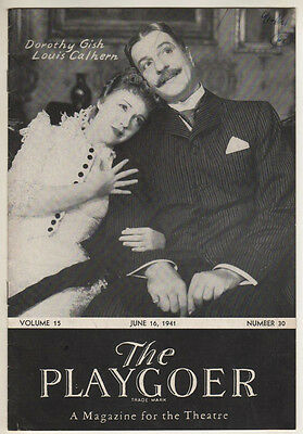 """Dorothy Gish & Louis Calhern  """"Life With Father""""   Playbill  1941  Detroit"""