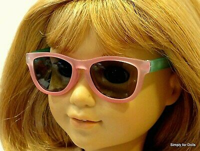"""PINK & AQUA Two-Toned DOLL SUNGLASSES fits 18"""" AMERICAN GIRL Doll Clothes"""