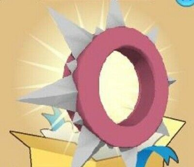 Animal Jam Rare Pink Long Spiked Collar (READ DESCRIPTION BEFORE PURCHASING)