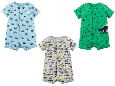 f041cc2b2697 NEW CARTER S BABY Boys Summer Romper One-piece Dino Construction 9 12  months NWT -  8.99