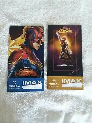 Captain Marvel Week 1 & 2 Collectible Regal IMAX Ticket #15 of 1000 Brie Larson
