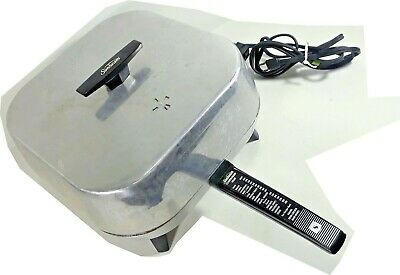 Sunbeam Controlled Heat Electric Skillet Model FP-M Cooking Guide Handle Clean