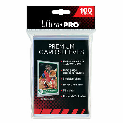 100 x Ultra Pro Platinum Series Premium Card Soft Clear Sleeves Pack MTG Pokemon