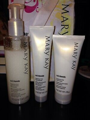 Mary Kay Satin Hands Pampering Set.  Fragrance Free. Full size. Brand new