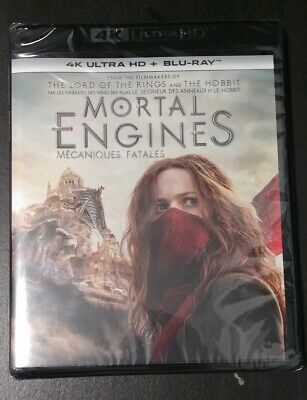 MORTAL ENGINES 4K Blu Ray disc only + Slip cover + Case