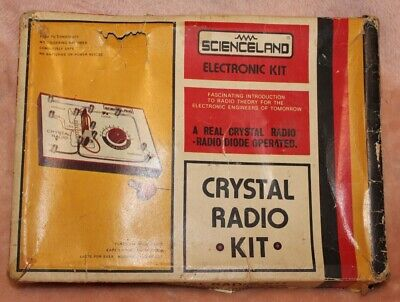 Child's Vintage Crystal Radio Set