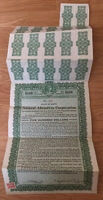 Natural Abrasives Of Maine Gold Bond Green Coupons 1919 Great Vignettes