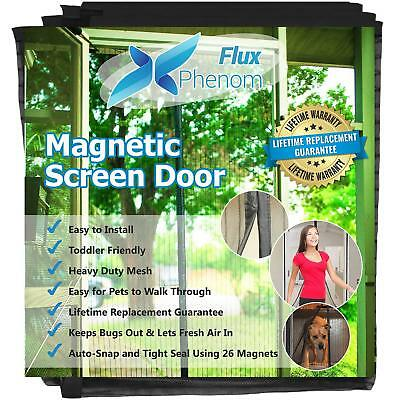 Flux Phenom Reinforced Magnetic Screen Door, Fits Up To 38 X 82 Inch