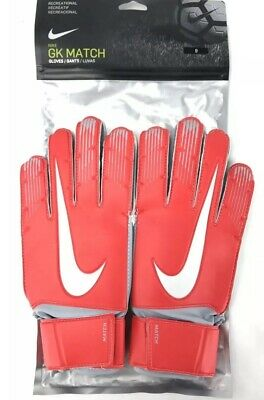 ce3837c6f Nike GK Match Soccer Goalie GoalKeeper Gloves GS3370-671 Red & White Size 9