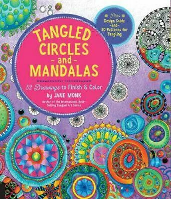 NEW Tangled Circles and Mandalas By Jane Monk Paperback Free Shipping