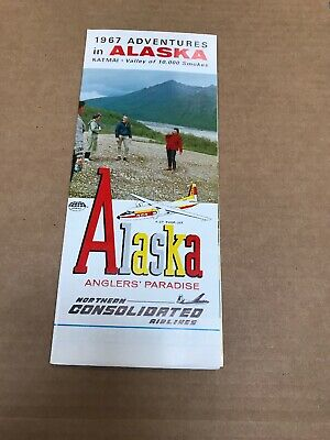 Northern Consolidated Airlines 1967 Alaska Travel Brochure