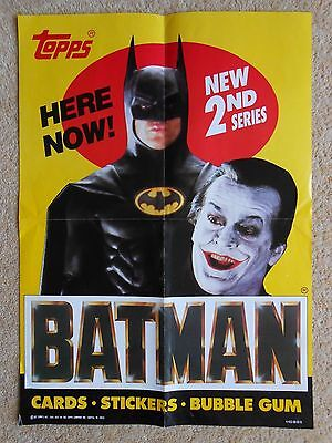 Batman The Movie - Topps Trading Cards Counter Display Box Empty + Mini Poster