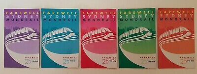 Farewell Sydney MONORAIL Australia 5 MAGNETS after 25 years 1988-2013