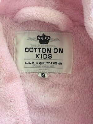Toddler Girls Size 1 (Small) Fleece Bath Robe / Dressing Gown - Cotton On Kids