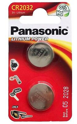 2 x Panasonic CR2032 DL2032 3V Lithium Coin Cell Battery Long Lasting !!