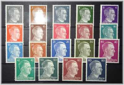 #11 Germany 3rd Reich cpl. set Adolf Hitler 781-798 MNH ** 1941-1944