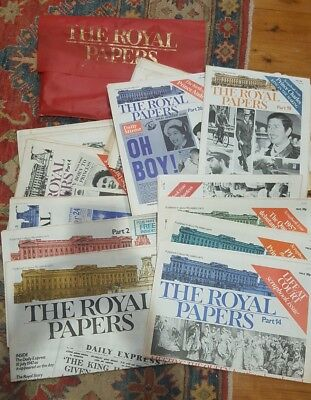 The Royal papers - complete set royal family papers part 1 to part 54. Ephemera