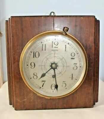 Large Art Deco Wooden School / Station/ Office Wall Clock,