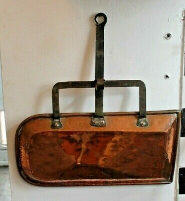 Large Old Antique Copper & iron Fire/ Oven Tray