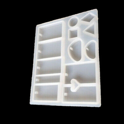 Silicone Mold Resin DIY Jewelry Pendant Making Tool Mould Craft Casting White