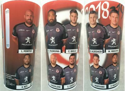 1 Verre Gobelet Rugby STADE TOULOUSAIN 2018/2019 Toulouse top14 ecocup eco cup
