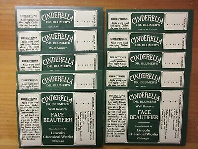 10+Old Pharmacy-Cosmetic-Medicine Bottle Labels=Vintage Ephemera Lot==