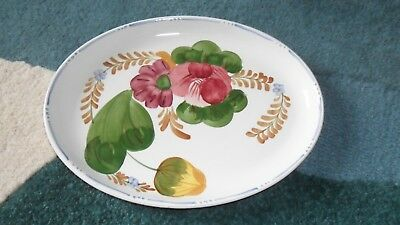 Belle Fiore Chanticleer Ware Oval Dinner Plate / Small Serving Platter 10.3/4""