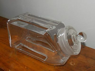HTF Stacking Glass Apothecary Jar Candy Store Bottle Coffee Shop Display