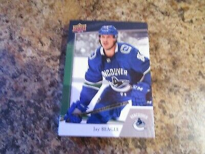 2018-19 JAY BEAGLE VANCOUVER CANUCKS REGIONAL Upper Deck Subway Card