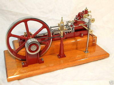 Freestanding live steam engine governor.