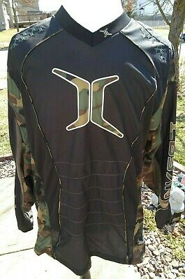 Empire Invert Black and Camo Padded Vented Paintball Jersey Size XL - EUC