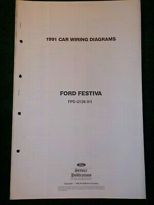 1991 ford festiva electrical schematic wiring diagram manual