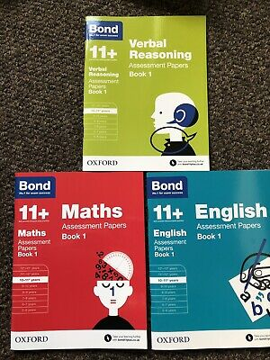 Bond 11+ plus  English, Maths & Verbal Reasoning 10-11 3 Assessment Paper Books