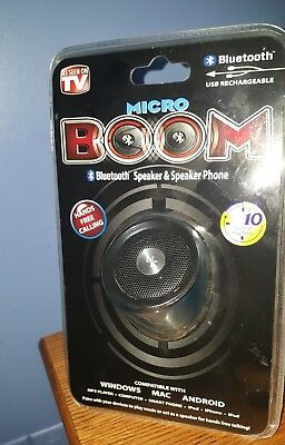 New Micro Boom Bluetooth Portable Speaker As Seen On TV Hands Free Calling