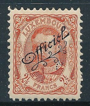 [36114] Luxembourg 1908/19 Official Good stamp Very Fine MH Value $125