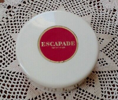 Escapade Dusting Powder By Shulton Vintage Container with Unused Powder & Puff