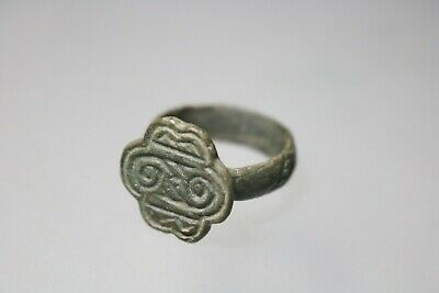 Ancient Interesting Massive Roman Bronze Ring   1st - 4th century AD