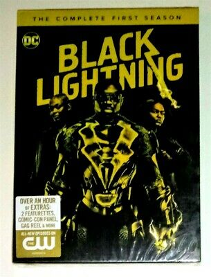 New! Black Lightning: Complete First Season 1. 3 Discs, 2018 Dvd Set. Ships Free