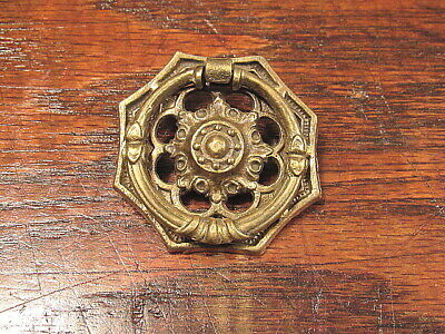 Vintage Antique Solid Brass Victorian Drawer Pull