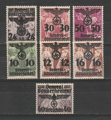 Germany Reich 1940 Generalgouvernement Occupation In Poland Mnh ** Nice Set